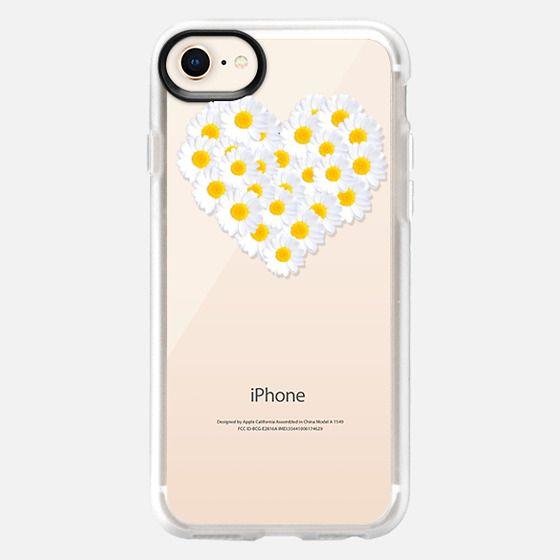 DAISY HEART Crystal Clear iPhone Case - Snap Case