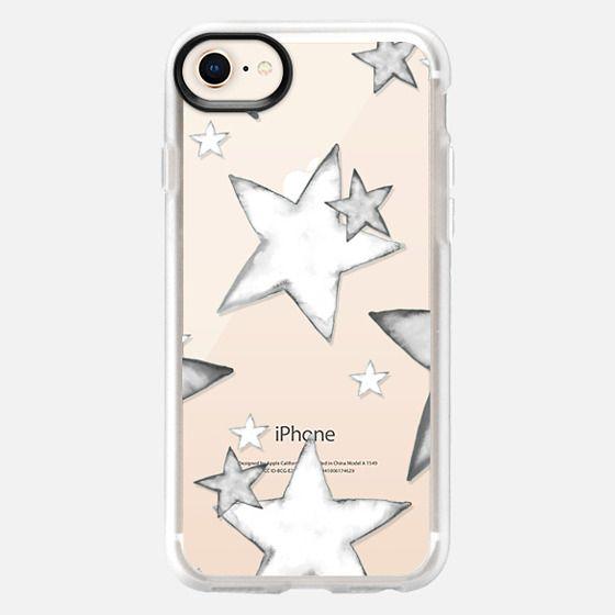 TIFFANY WATERCOLOR BLACK STARS iphone case - Snap Case