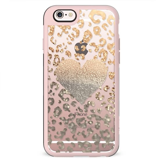 GOLD HEART LEO for HTC One M8 transparent case