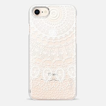 iPhone 8 ケース WHITE LACE DREAM by Monika Strigel
