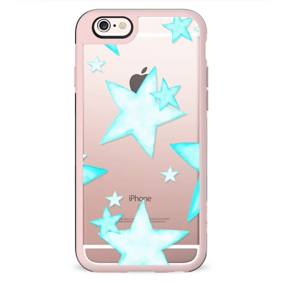 TIFFANY WATERCOLOR MiNT STARS iphone case