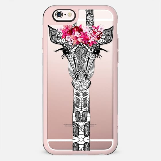 FLOWER GIRL GIRAFFE Hipster Black by Monika Strigel - New Standard Case