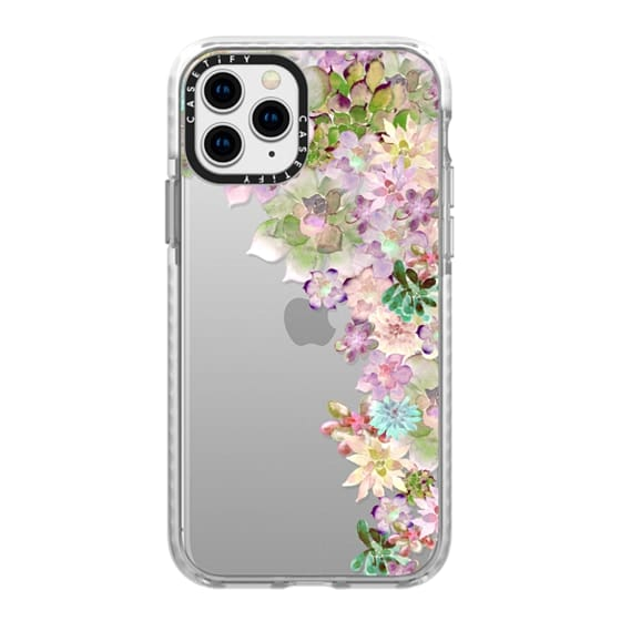 iPhone 11 Pro Cases - MY SUCCULENT GARDEN PEACH by Monika Strigel