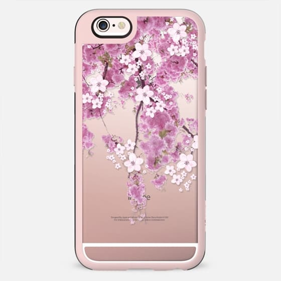 CHERRY SPRING iPhone 6 case TRANSPARENT