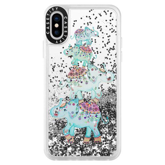 iPhone X Cases - BLUE ELEPHANTS by Monika Strigel
