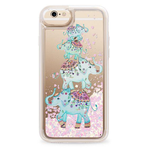 iPhone 6 Cases - BLUE ELEPHANTS by Monika Strigel