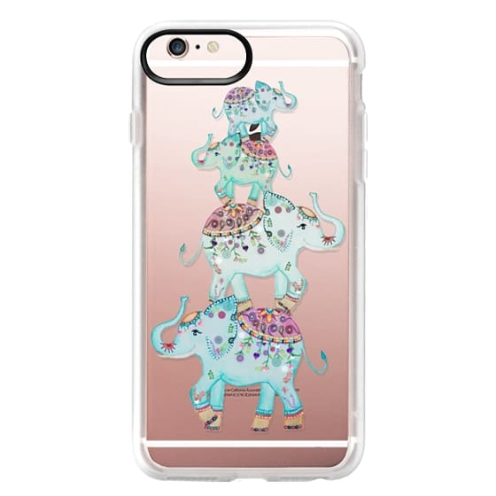 iPhone 6s Plus Cases - BLUE ELEPHANTS by Monika Strigel