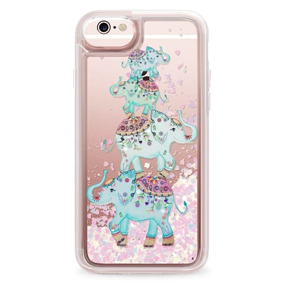 iPhone 6s Cases - BLUE ELEPHANTS by Monika Strigel