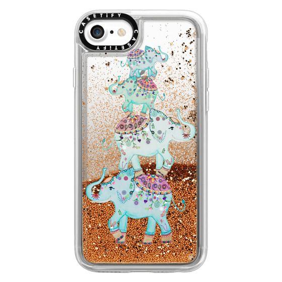 iPhone 7 Cases - BLUE ELEPHANTS by Monika Strigel