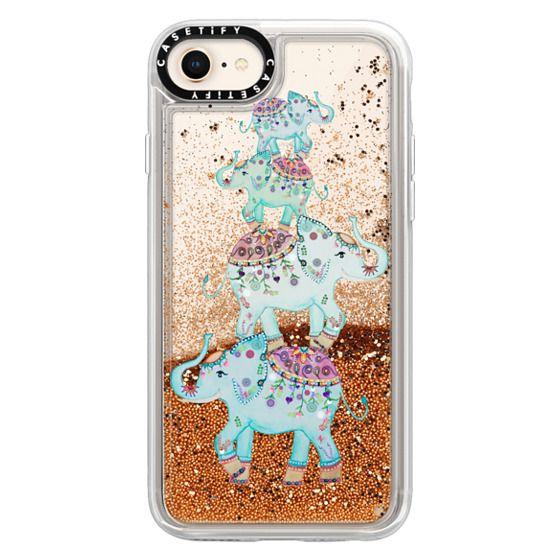 iPhone 8 Cases - BLUE ELEPHANTS by Monika Strigel