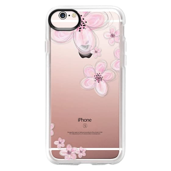 online store 33cfe 660ee Classic Grip iPhone 6s Case - CHERRY BLOSSOM iPhone 6 Crystal Clear Case