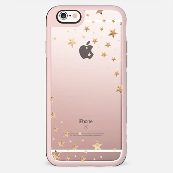 STARSHOWER GOLD Crystal Clear iphone case -
