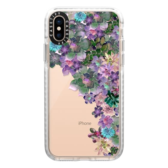 iPhone XS Cases - MY SUCCULENT GARDEN by Monika Strigel