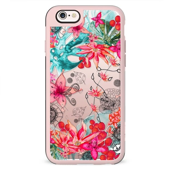 TROPICAL GARDEN Tiffany Crystal Clear Case for iphone 5s