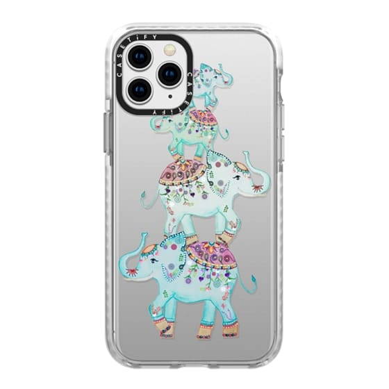 iPhone 11 Pro Cases - BLUE ELEPHANTS by Monika Strigel