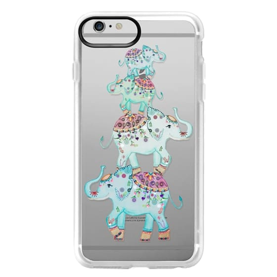 iPhone 6 Plus Cases - BLUE ELEPHANTS by Monika Strigel