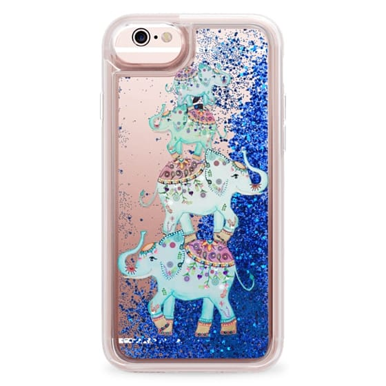 iPhone 6s Cases - BLUE ELEPHANTS by Monika Strigel