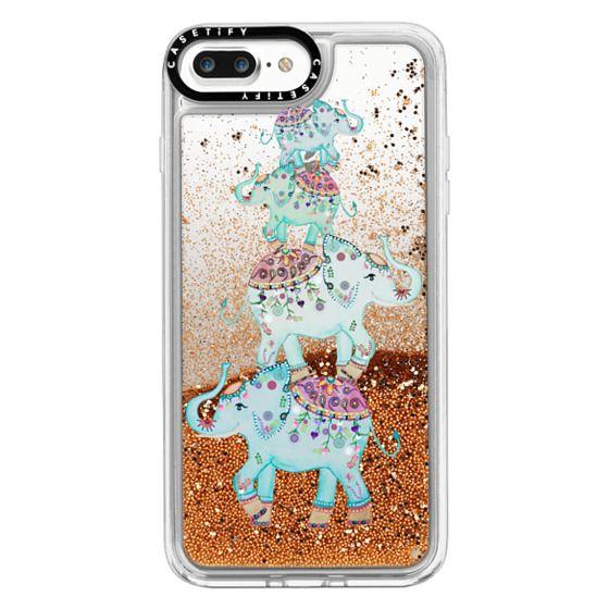 iPhone 7 Plus Cases - BLUE ELEPHANTS by Monika Strigel