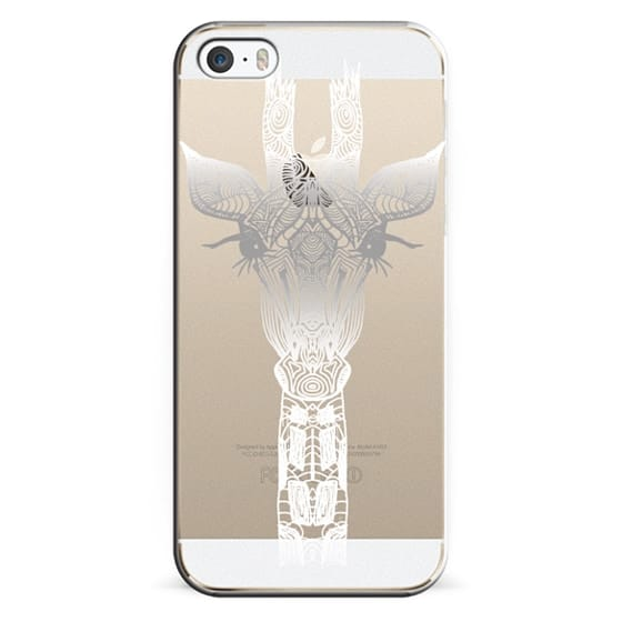 iPhone 6s Cases - WHITE GIRAFFE Crystal Clear iphone case