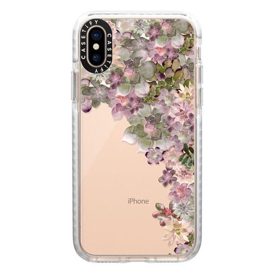 iPhone XS Cases - MY SUCCULENT GARDEN ROSE by Monika Strigel