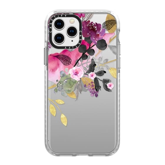 iPhone 11 Pro Cases - FLOWER & GOLD by Monika Strigel