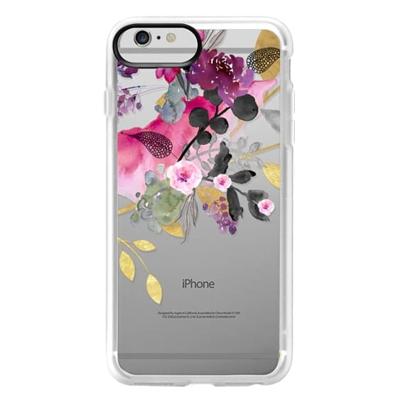 iPhone 6 Plus Cases - FLOWER & GOLD by Monika Strigel