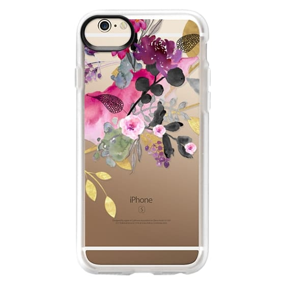 iPhone 6 Cases - FLOWER & GOLD by Monika Strigel