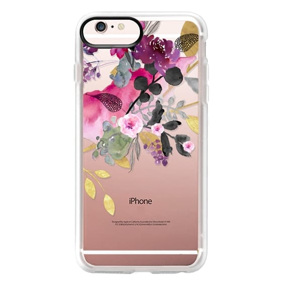iPhone 6s Plus Cases - FLOWER & GOLD by Monika Strigel