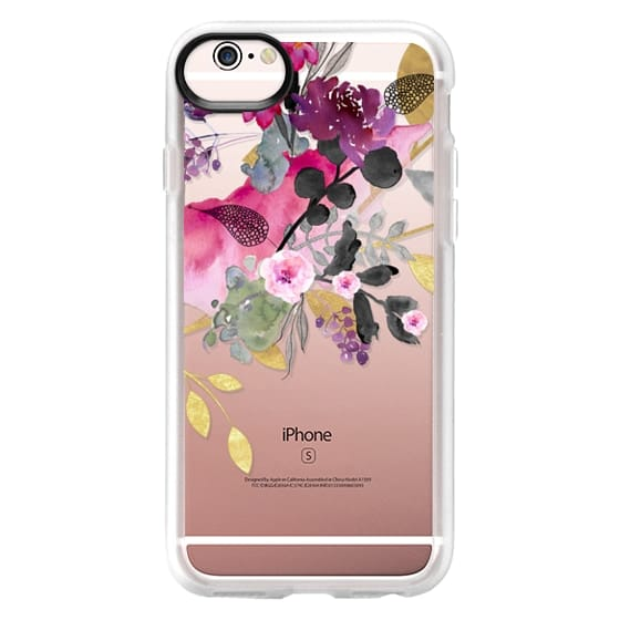 iPhone 6s Cases - FLOWER & GOLD by Monika Strigel