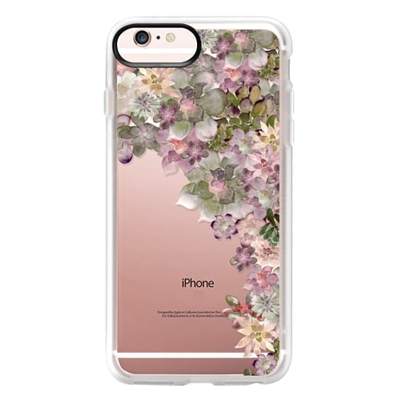 iPhone 6s Plus Cases - MY SUCCULENT GARDEN ROSE by Monika Strigel