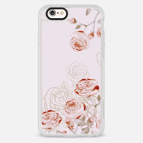 FRENCH PALE ROSES by Monika Strigel - New Standard Case