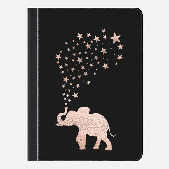 ROSEGOLD HAPPY ELEPHANT by Monika Strigel for iPad Pro - iPad Folio Case