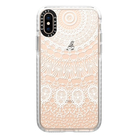 iPhone XS Cases - WHITE LACE DREAM by Monika Strigel