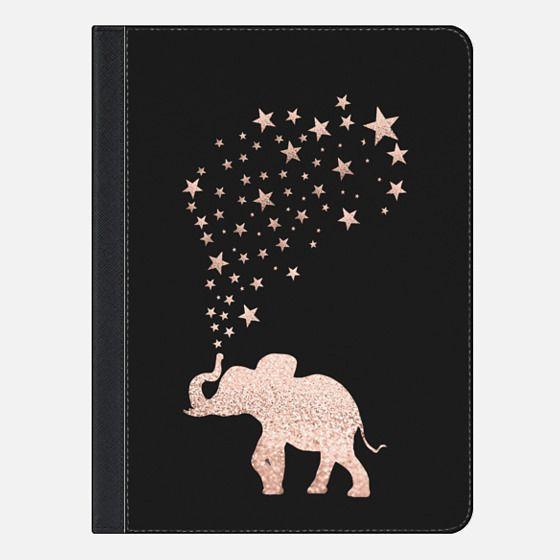 ROSEGOLD HAPPY ELEPHANT by Monika Strigel for iPad Pro