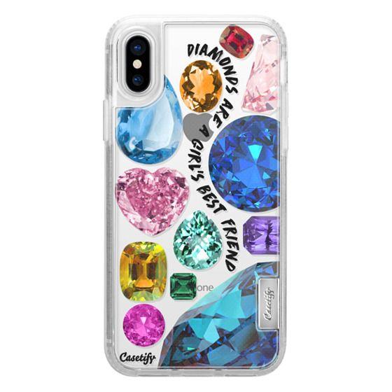 iPhone X Cases - Diamonds are a girl's best friend Gems & Glitters