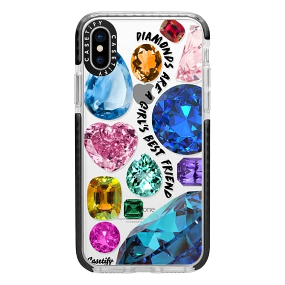 iPhone X Cases - Diamonds are a girl's best friend Gems & Glitters