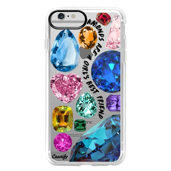 iPhone 6 Plus Cases - Diamonds are a girl's best friend Gems & Glitters
