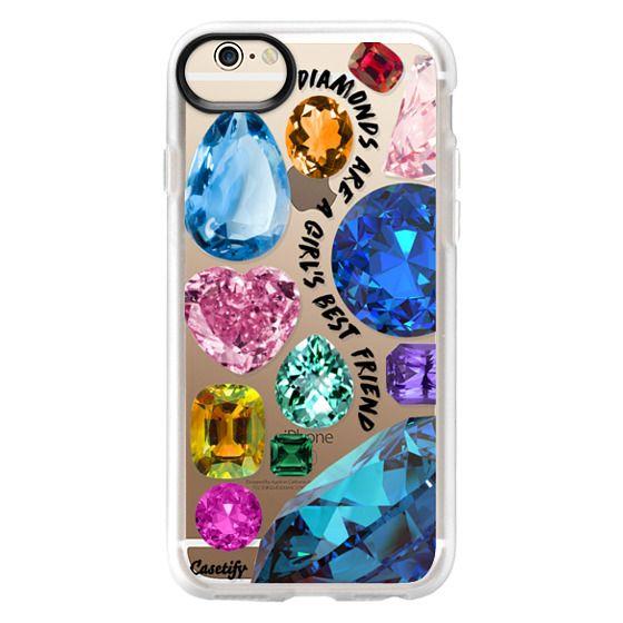 iPhone 6 Cases - Diamonds are a girl's best friend Gems & Glitters