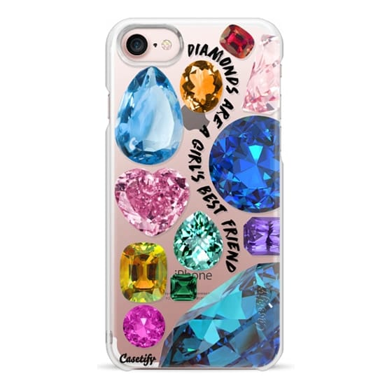 iPhone 7 Cases - Diamonds are a girl's best friend Gems & Glitters