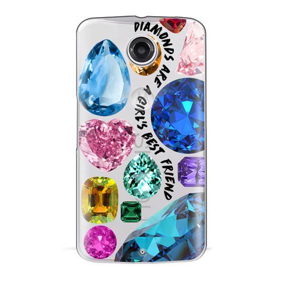Nexus 6 Cases - Diamonds are a girl's best friend Gems & Glitters
