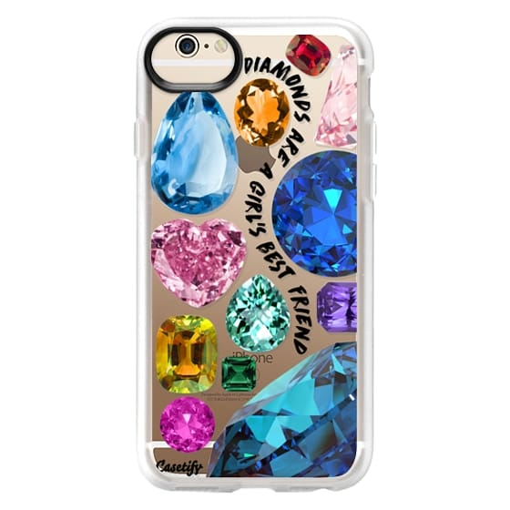 iPhone 6 Cases - Diamonds are a girl's best friend Gems & Glitters