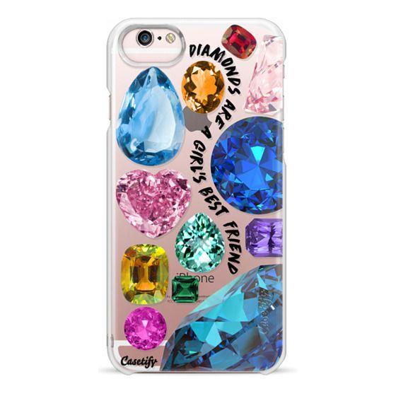 iPhone 6s Cases - Diamonds are a girl's best friend Gems & Glitters