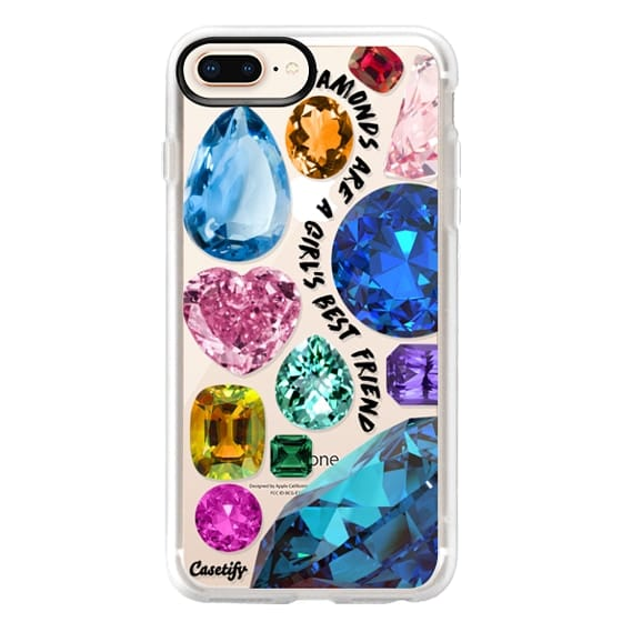 iPhone 8 Plus Cases - Diamonds are a girl's best friend Gems & Glitters