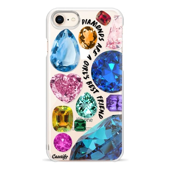 iPhone 8 Cases - Diamonds are a girl's best friend Gems & Glitters