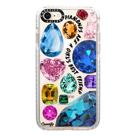 iPhone 8 Cases - Diamonds are a girl's best friend Gems & Glitters