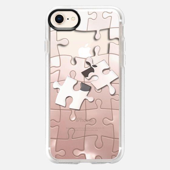 rose gold puzzle - Snap Case
