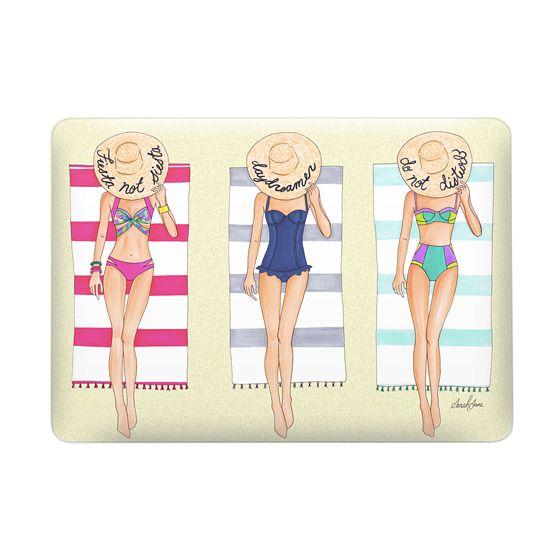 Summer beach bikinis -fashion illustration - illustrious jane-