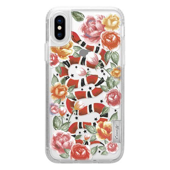 iPhone X Cases - Botanical Snake