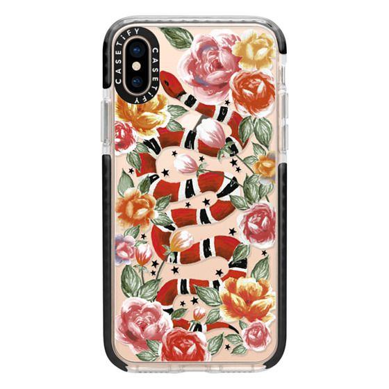 iPhone XS Cases - Botanical Snake