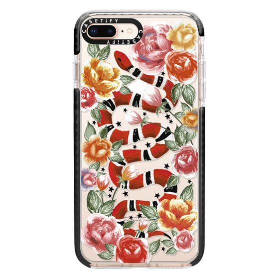 iPhone 8 Plus Cases - Botanical Snake